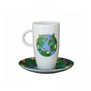 Κύπελλο με πιάτο WE ARE THE WORLD