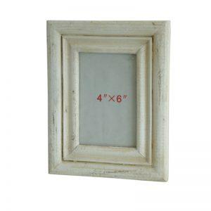Φωτογραφοθήκη λευκή αντικέ ξύλινη