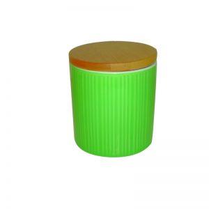 Δοχείο κεραμεικό με καπάκι - πράσινο