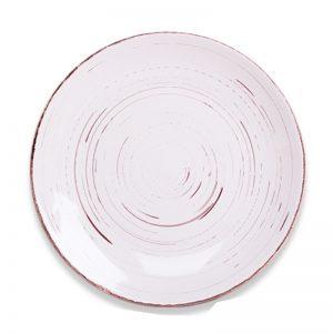 Σετ πιάτα φρούτου (6τμχ) λευκό αντικέ