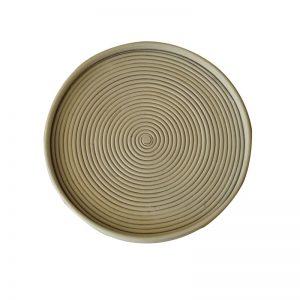 Δίσκος στρογγυλός από φυσικό rattan
