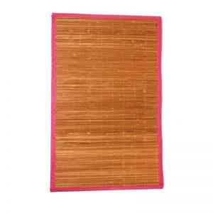 Χαλάκι μπάνιου bamboo φούξια