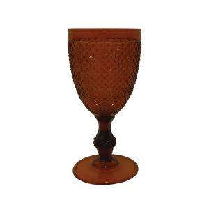 Ποτήρι νερού με πόδι ακρυλικό,πορτοκαλί