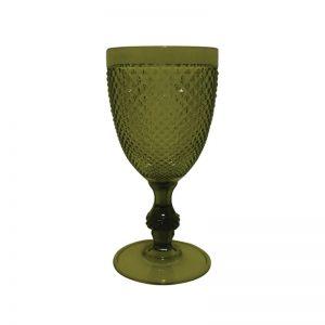 Ποτήρι νερού με πόδι ακρυλικό,πράσινο