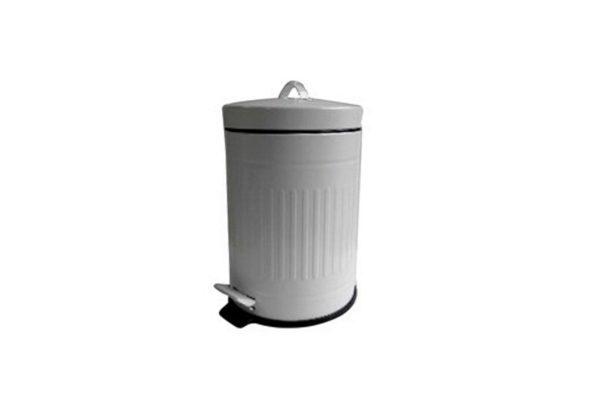 Κάδος με πεντάλ 5 λευκό - Ø20,5Χ28 cm